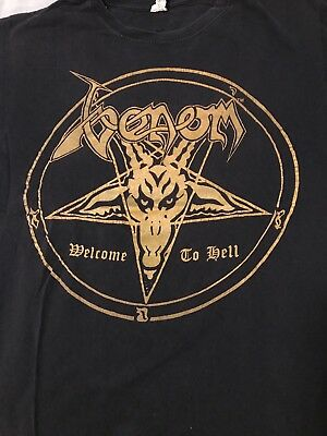 Venom Shirt welcome To hell Nicely Worn  Hellhammer