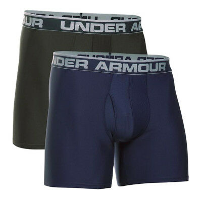 Under Armour UA The Original BoxerJock® 2-Pack Solid Navy Artillery Boxer Briefs