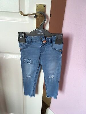Girls River Island Jeans 12-18 Months