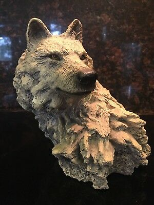 *vintage Wellington Collection Large Wolf Head Statue