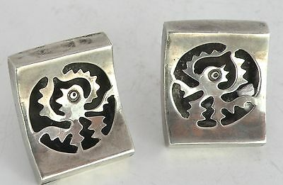Vintage Taxco Mexican large sterling silver southwest Octopus cufflinks Mexico