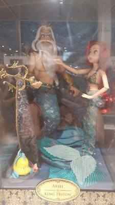 Disney Store Princess Designer Doll Ariel Little Mermaid Triton SET PREORDER