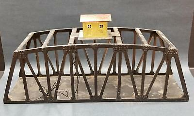 American Flyer S Gauge 750 Trestle Bridge with Lighted Tender House on Top 18""