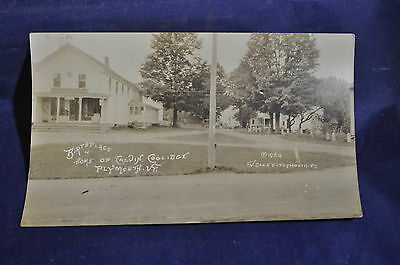 1924 RPPC Birthplace & Home of Calvin Coolidge, Plymouth, Vt. Postcard