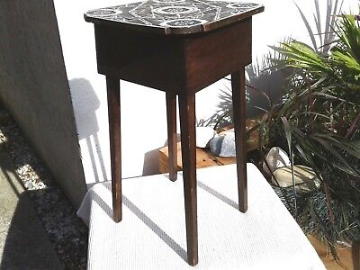 Antique Vintage Wooden Jardiniere / Plant Pot Stand ~ Lamp Table