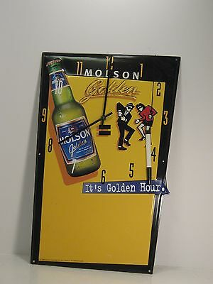 "Molson Golden Clock Sign Message Board 1996 ""It's Golden Hour"""