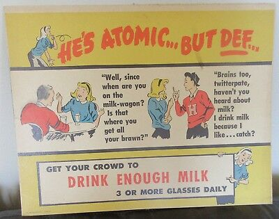 Milk Foundation Drink Enough Milk Atomic Cardboard Sign