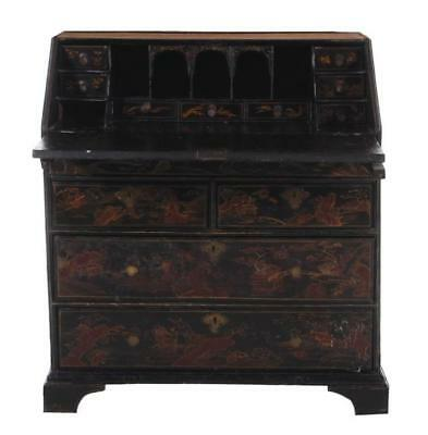 Georgian chinoiserie-decorated slant-front desk Lot 282