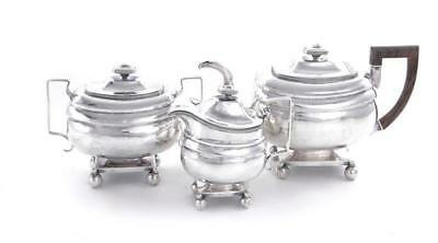 American coin silver tea set by John Sayre (3pcs) Lot 111