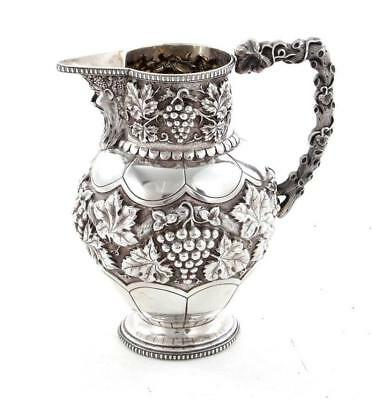 Portugese silver beverage pitcher Lot 186