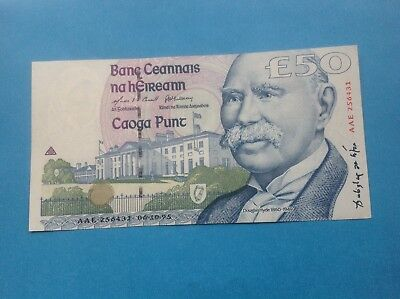 Ireland  £50 HYDE NOTE IN UNCIRCULATED CONDITION 06-10-1995