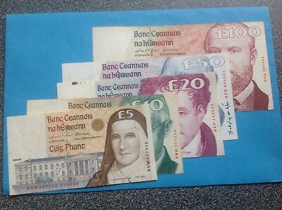 "Ireland  COMPLETE SET OF ""C"" SERIES BANKNOTE IN VERY FINE CONDITION 1996/2001"