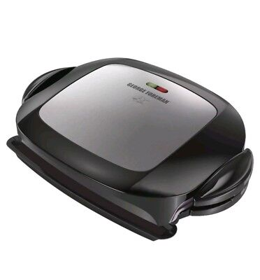 Geoge Foreman GRP472P Removable Plate Grill, Service for 5 , New, Free Shipping
