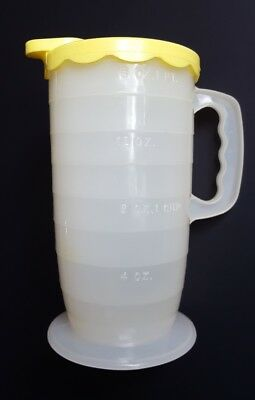 Blisscraft of Hollywood Vintage Plastic Measuring Cup Yellow Lid 16 oz 2 Cup