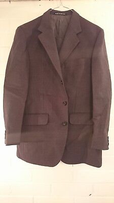 Dunn & Co vintage dark grey check suit 40s 32/34w short trousers