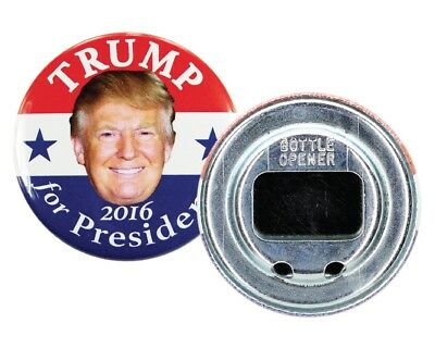 "2016 DONALD TRUMP for PRESIDENT 2.25"" CAMPAIGN BUTTON BOTTLE OPENER, dtds"