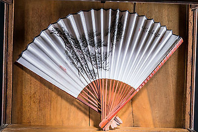 Group of chinese antique fan painting