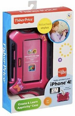 Fischer Price ~ Create & Learn ~ Apptivity Case For Iphone ~Pink~ New