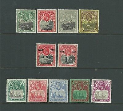 St. Helena 1912-37 Selection with values to 6d, good to fine mtd mint, Cat.£39.