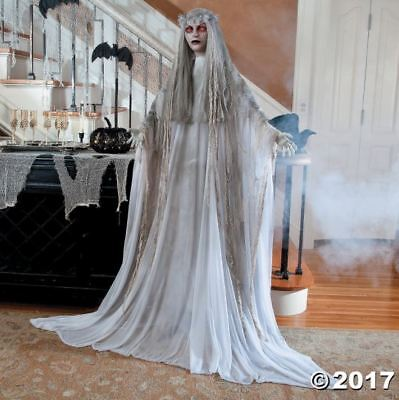 Life Size Zombie Ghost Figure Halloween Decoration Scary Haunt Lighted Eyes SALE