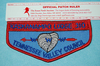 Boy Scout OA patch Kaskanampo Lodge 310 F3 Rolled edge