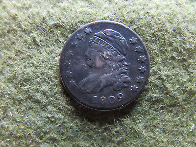1809 Capped Bust Dime Philadelphia Mint Cap 10 Cent Silver Coin Key Date WOW