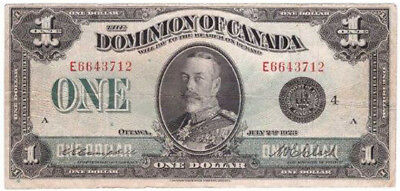 $1 Canada 1923 large size - well used - still worth a dollar :>)