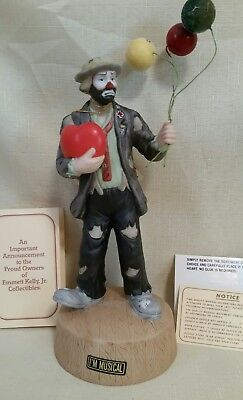 The All-Occasion Emmett Kelly Jr Musical Figurine by Flambro Love Story 9627