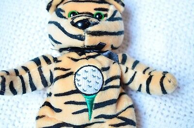 CELEBRITY BEAR Star #12 Tiger Woods Golf BEAN BAG MWMT!