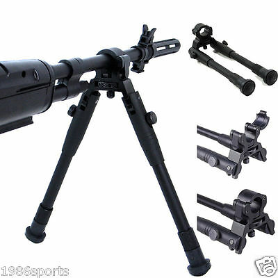 Universal Foldable Clamp-on 8-10in Bipod Adjustable Height FOLDABLE Barrel #3221