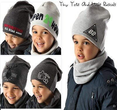 Baby Boy Toddler Kids Warm Winter Knitted Acrylic Elastic Hat Beanie 12- 8 years