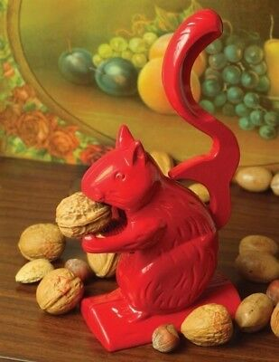 Victorian Trading Co Hungry Harvey Red Aluminum Squirrel Nutcracker New