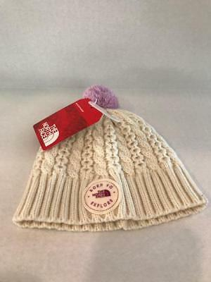 THE NORTH FACE Baby Minna Beanie Vintage White XS 6-24 Months NWT ... 5db9f1802bc5