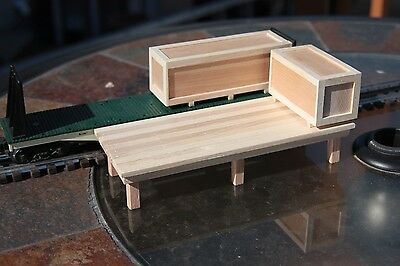 S gauge handmade (USA) freight platform for American Flyer and others