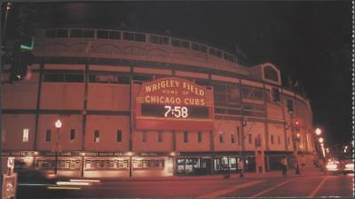 Chicago Cubs Wrigley Field Baseball Stadium Postcard Uncommon Chrome View