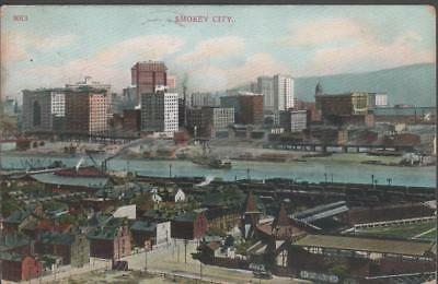1908 Pittsburgh Pirates Baseball Stadium Postcard Exposition Park Smokey City