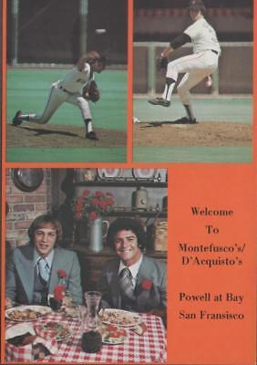 1970s Baseball Postcard San Francisco Giants Restaurant Advertising