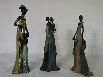 African Figures, 4 Women & 4 Children