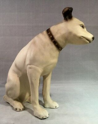 """10""""  Nipper Dog Statue  Advertising Display His Master's Voice"""