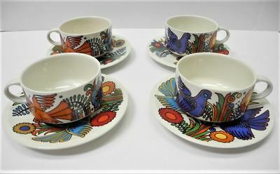 VILLEROY & BOCH Acapulco Porcelain Set of 4 Cup and Saucer