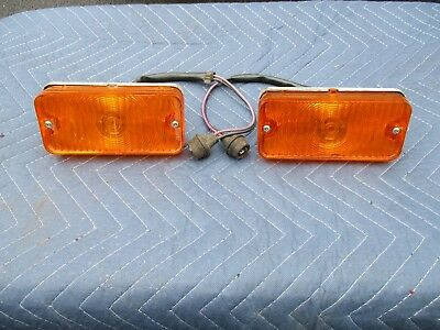 (2) 1967-68 Chevy Pickup Truck C10 Parking Lamp Turn Signal Amber Nos Rare