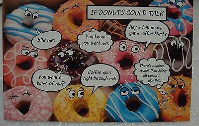 NEW Funny Box Of Donuts Birthday CARD Crazy Talking