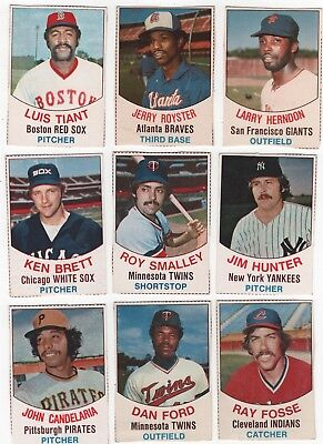 1977 Hostess Baseball Lot Of 9 Different With Unevenly Cut Edges
