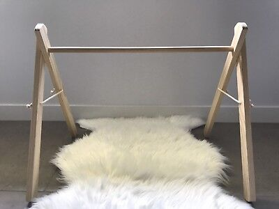 Wooden Activity Gym, Handmade Baby Play Gym, Wooden Play Bar, Natural Pine Frame