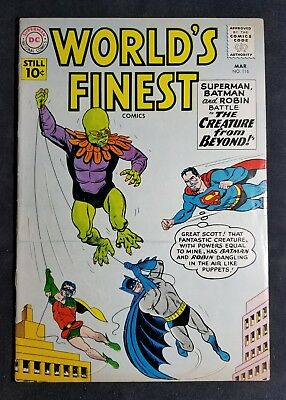 World's Finest Comics #116 (March 1961, DC) Creature from Beyond!!! NO RESERVE!!