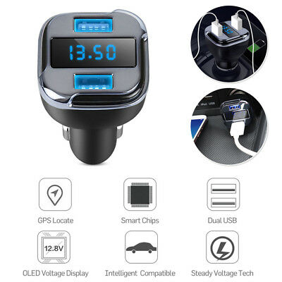 Auto Motor Car Real Time GPS Tracker Location Track Device Dual USB Car Charger