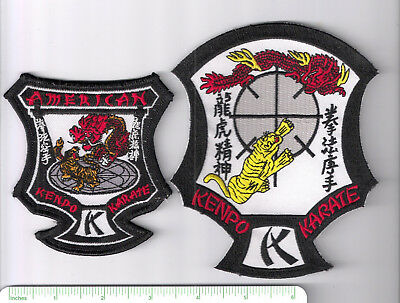 """Pair of Kenpo martial arts patches > approximately 3-5"""" in diameter"""