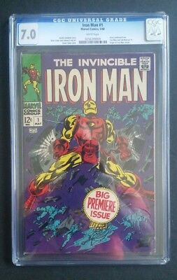 Iron Man #1 • 1St Solo Title • Cgc 7.0 (Fn/vf) • Spidey Homecoming •infinity War