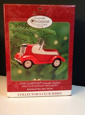 Hallmark Ornament 1938  GARTON Lincoln Zephyr Pedal Car -Kiddie Car Classic -New
