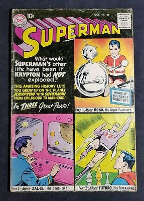 Superman #132 (Oct 1959, DC) 10 Cent Silver Age Comic NO RESERVE!!!